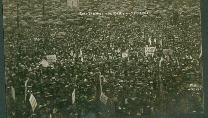 Niemiecki wiec w Katowicach 1919