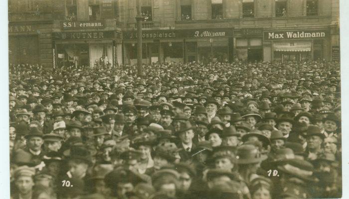 Niemiecki wiec w Katowicach rok 1919