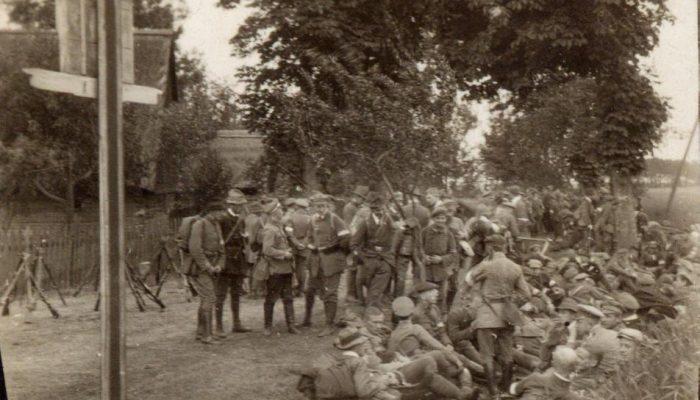 oddział powstańczy w drodze nad Odrę 1921